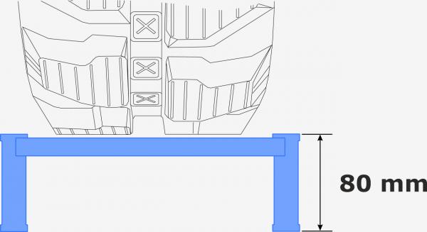 Auffahrrampe kompakt | 2,5 m lang